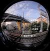 Rail Cross/立体交差する線路(Fisheye photo/魚眼写真)