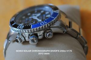 SEIKO SOLAR CHRONOGRAPH DIVER'S 200m V175<br /> 2012 dddo