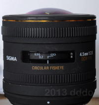 SIGMA 4.5mm F2.8 EX DC CIRCULAR FISHEYE HSM