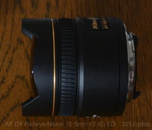 AF DX Fisheye-Nikkor 10.5mm f2.8G ED lens photo 2 side view