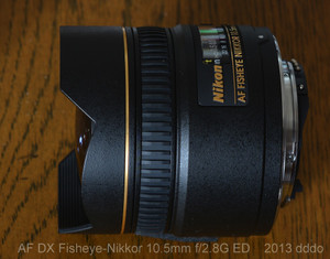AF DX Fisheye-Nikkor 10.5mm f2.8G ED lens photo 3 diagonal view