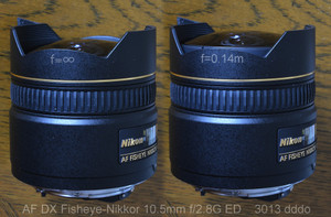 AF DX Fisheye-Nikkor 10.5mm f2.8G ED lens photo 5 lens move