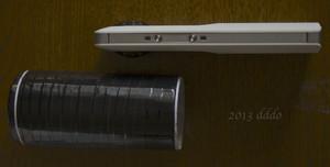 RICOH THETA / リコー・シータ、自作のキャップ側面とシータ