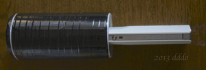RICOH THETA / リコー・シータ、自作のキャップ装着状態