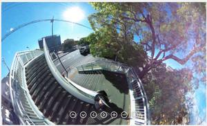 RICOH THETA / リコー・シータ作例:歩道橋その4