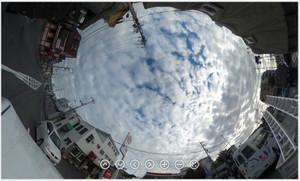 RICOH THETA / リコー・シータ作例:うろこ雲
