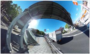 RICOH THETA / リコー・シータ作例:歩道橋その1