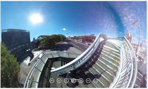RICOH THETA / リコー・シータ作例:歩道橋その2
