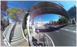 RICOH THETA / リコー・シータ作例:歩道橋その5