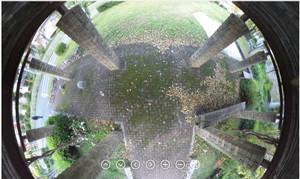 RICOH THETA / リコー・シータ作例:公園の藤棚