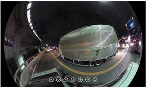 RICOH THETA / リコー・シータ作例:夜の国道