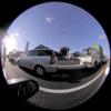 Road and Cars/道路と自動車(Fisheye Photo/魚眼写真)