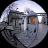 Temple bell/四天王寺、聖徳太子の鐘(Fisheye photo/魚眼写真)