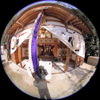 2007.01.01 Shrine precincts/神社の境内(Fisheye photo/魚眼写真)