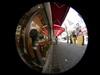 Shop/消火栓のあるパン屋さんの店先(Fisheye photo/魚眼写真)